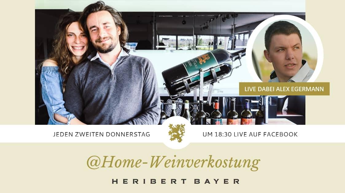 Weinverkostung Heribert Bayer mit Live Gast Alex Egermann