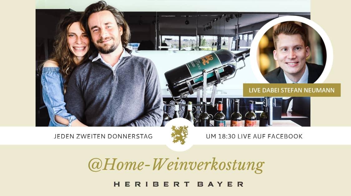 Weintasting Heribert Bayer und Stefan Neumann