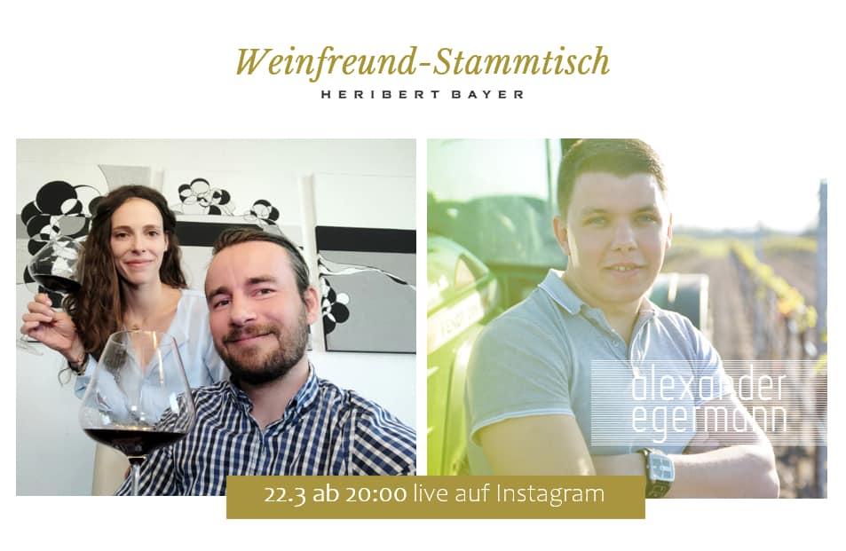 Heribert Bayer und Alex Egermann Weinverkostung