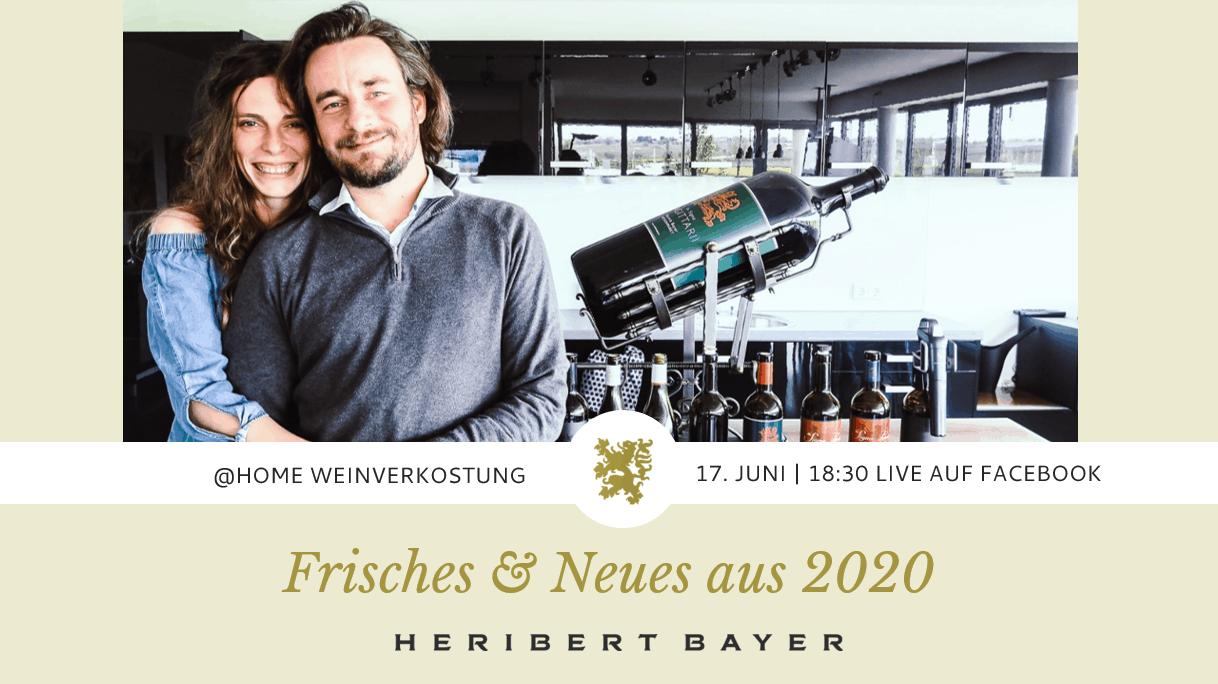 Online-Weinverkostung Facebook Juni Patrick Bayer und Katja Bernegger