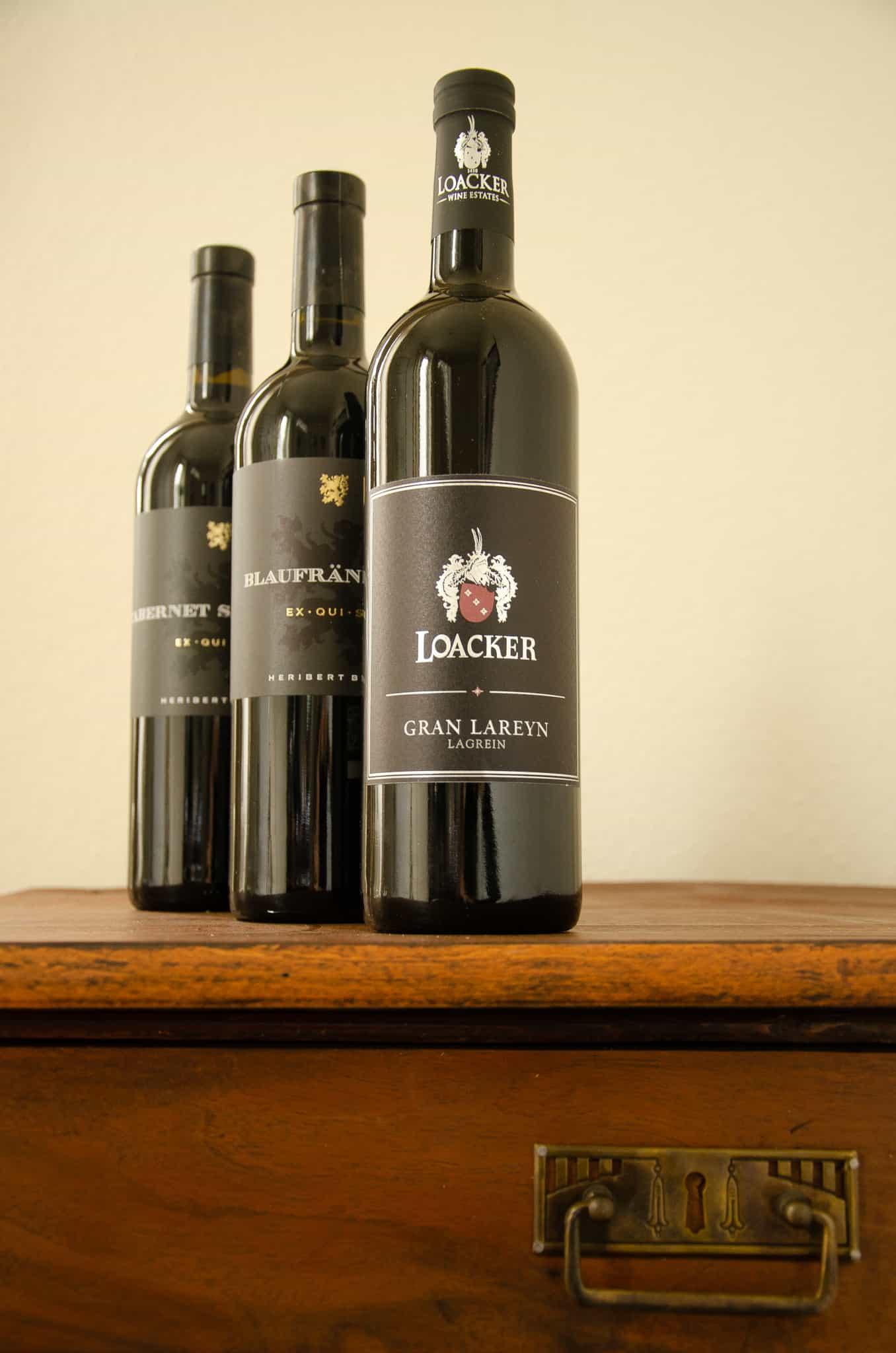 Lagrein Weingut Loacker, Blaufränkisch Exquisit, Cabernet Sauvignon Exquisit