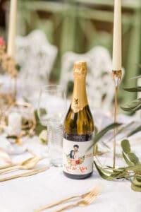 Hochzeitswein mit eigener Etikette