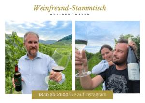 Online-Weinverkostung Heribert Bayer und Weingut Johann Donabaum