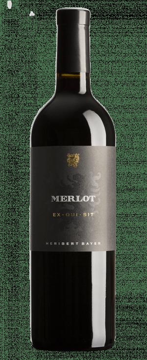 Merlot EX·QUI·SIT Rotweinflasche